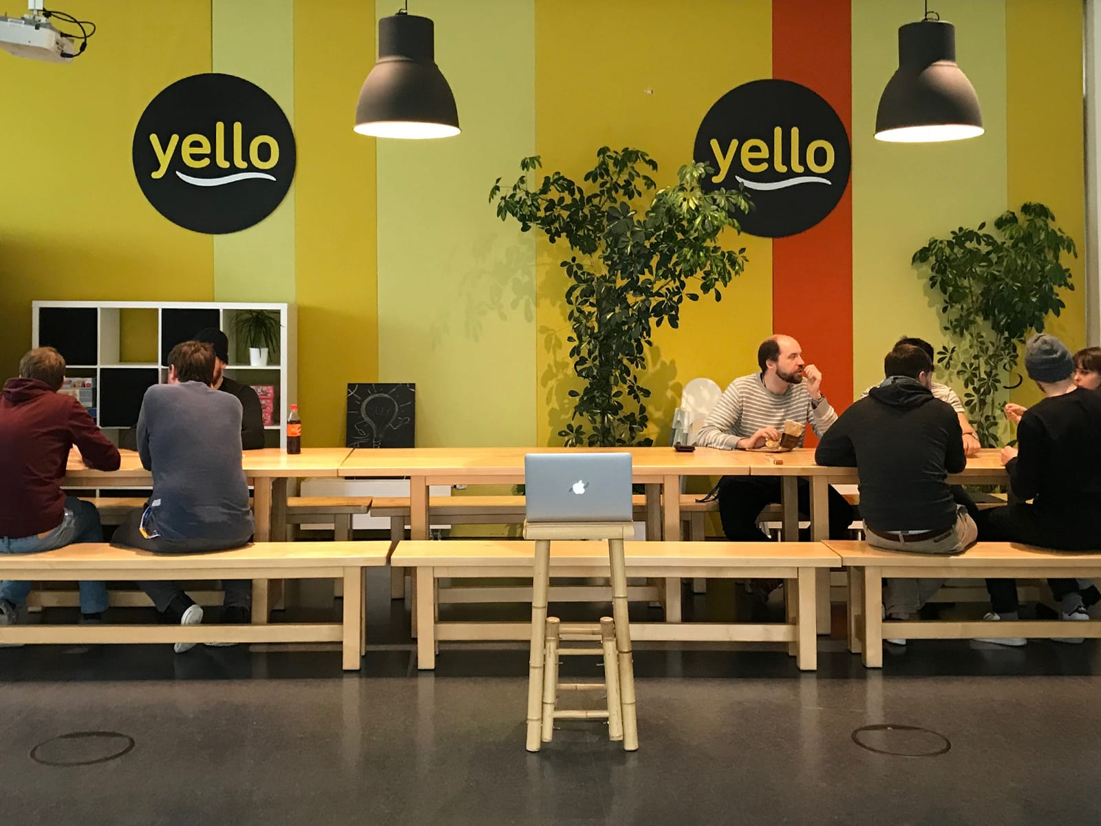 The cool Yello office lounge.