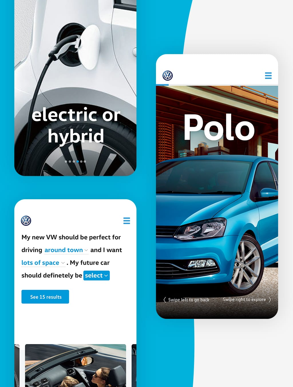 Screenshot of VW Next Generation Web project app